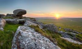 Kilmar Tor på den Bodmin heden i Cornwall royaltyfria bilder