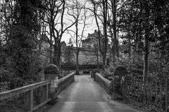 Majestic Buildings of Dean castle in East Ayrshire Kilmarnock Sc. Kilmarnock, Scotland, UK - November 26, 2018: The Majestic Buildings of Dean Castle in stock photo