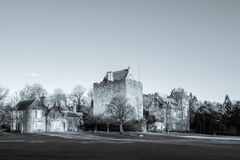 Majestic Buildings of Dean castle in East Ayrshire Kilmarnock Sc. Kilmarnock, Scotland, UK - November 26, 2018: The Majestic Buildings of Dean Castle in royalty free stock images