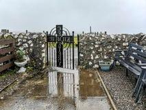 Kilmuir, Scotland - October 25 2019 : Kilmuir cemetry on the Isle of Skye stock image