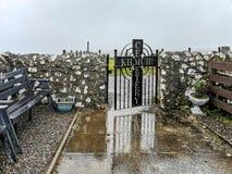 Kilmuir, Scotland - October 25 2019 : Kilmuir cemetry on the Isle of Skye stock photography