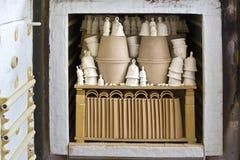 Kiln firing of ceramics Royalty Free Stock Photography