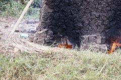Kiln for making mud bricks, Uganda, Africa Stock Images