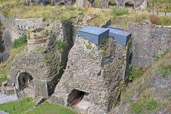 Kilns at Blaenavon. Ruins of kilns at Blaenavon Ironworks Royalty Free Stock Photos