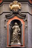 Kilo square. Statue of a women in the centre of napoli italy church san domenico kilo square stock photography