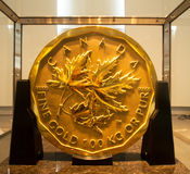 Barrick's Million Dollar Gold Coin Stock Photography