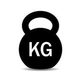 Kilogram weight dumbbell vector icon Stock Image