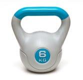 6 Kilogramm graues kettlebell lokalisiert Lizenzfreies Stockbild