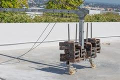 Kilogramme de poids avec la gondole Photo stock