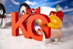 Kilogramos, dieta del deporte Fotografía de archivo