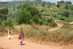 Kilolo山的孩子在坦桑尼亚-非洲13 库存照片