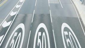 50 kilomètres par panneau routier d'heure Image libre de droits