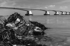 5 kilomètres Zeelandbrug long, Zélande, Pays-Bas Image stock