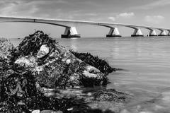 5 kilomètres Zeelandbrug long, Zélande, Pays-Bas Images stock