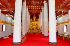 Wat Phra Sri som tänder phayaoområdet Royaltyfri Bild