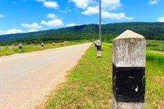 Kilometer Markierung Stockfoto