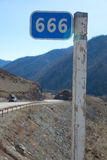 Kilometer pole Stock Photography