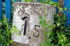 Kilometer stone, Milestone Stock Images