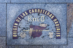 Kilometer Zero in Madrid, Spain Stock Image