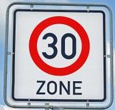 30 Kilometer-Zone Stockfotos
