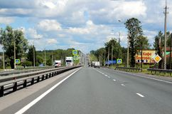 237 kilometers from the center of Moscow. Stock Photo