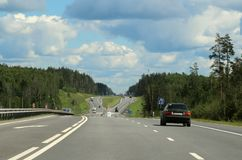 200 kilometers from Moscow. Stock Photography