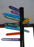 kilometrów linii zawieranych na odległość powietrza innego miasta Vancouver na całym świecie Zdjęcie Stock