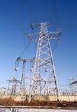330 kilovolt electrical power transmission pylon Royalty Free Stock Photo