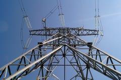 110 kilovolt powerline transmission pylon Stock Photo