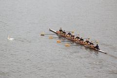 Kilovoltio Kondor Brandys nad Labem ocho - 100a raza del rowing de Primatorky Foto de archivo