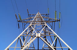 110 kilovoltpowerline transmissiepyloon Stock Afbeeldingen