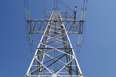 110 kilovoltpowerline transmissiepyloon Stock Afbeelding