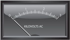 Kilovolts Gauge Stock Photo