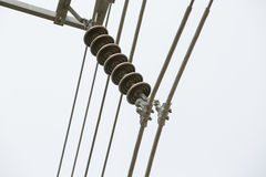 115 kilovolts,Line and Suspension Insulator one phase Stock Photos