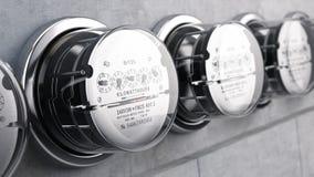 Kilowatt hour electric meters, power supply meters Royalty Free Stock Photography