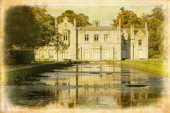 Kilruddery House. Bray. Ireland. Killruddery house is built in a Tudor style in 1830, incorporating the original low-level 17th mansion. Bray. Ireland Vintage stock images