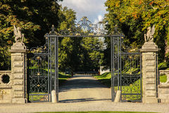 Kilruddery ogródy Dom &. Wejście. Irlandia zdjęcia royalty free