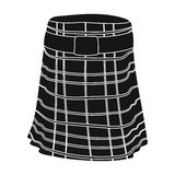 Kilt icon in black style isolated on white background. Scotland country symbol stock vector illustration. Royalty Free Stock Image