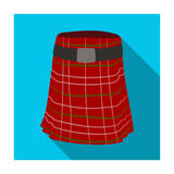 Kilt icon in flat style isolated on white background. Scotland country symbol stock vector illustration. Royalty Free Stock Photos