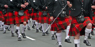 Kilt parade Royalty Free Stock Photo