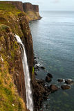 Kilt Rock and Mealt waterfall Stock Photos
