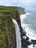 Kilt rock waterfall Royalty Free Stock Photography