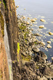 Kilt Rock Waterfall. Elishader Ellishadder Stock Photo