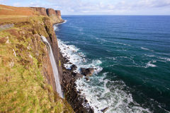Kilt Rock Waterfall Scotland Stock Photography