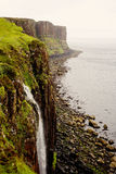 Kilt Rock and Waterfall in Scotland Stock Images