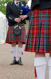 Kilt, Scottish musicians Royalty Free Stock Image