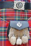 Kilt and Sporran. A Scotsman wearing a kilt and sporran Royalty Free Stock Images