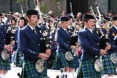 Kilted Bagpipe players Stock Photo