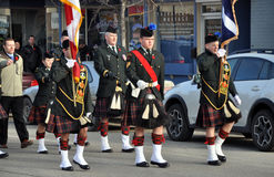 Kiltie. Photo was taken during Canadian Remembrance Day ceremonies in Winnipeg City, Manitoba province, Canada. on November 11, 2013. Location St. Phillips Royalty Free Stock Photos