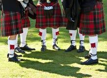 Kilts escoceses fotografia de stock